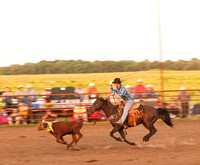 Calf Roper Olpe Ranch Rodeo